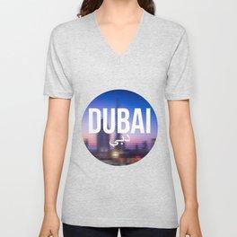 Dubai - Cityscape Unisex V-Neck