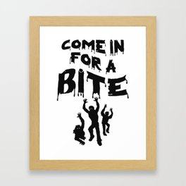 Zombie Halloween Framed Art Print