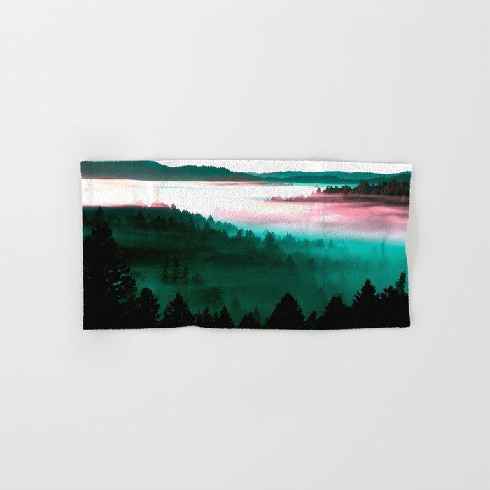 Misty Mountains Morning : Magenta Mauve Teal Hand & Bath Towel