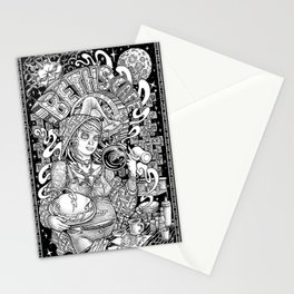 Beth's Cafe Graveyard Waitress Stationery Cards