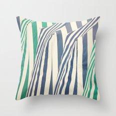 Beach Cabins Throw Pillow