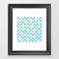 Pastel . Heart . Framed Art Print