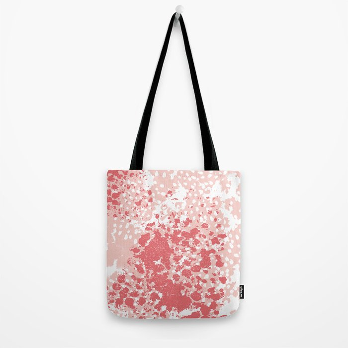 Abstract minimal pink and coral painting home decor abstract charlotte winter art Tote Bag