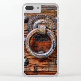 Door knocker Clear iPhone Case