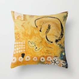 Catharsis in Yellow Throw Pillow