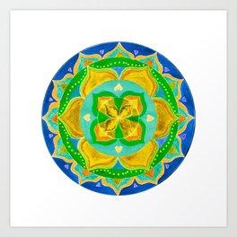 Opening the Heart Mandala Art Print