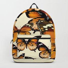 COFFEE & CREAM COLORED BROWN BUTTERFLIES Backpack