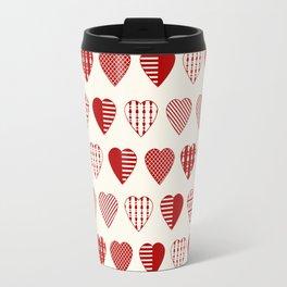 AFE Red Hearts Travel Mug