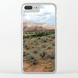 Mesas of New Mexico, on the Road from Chama to Santa Fe Clear iPhone Case