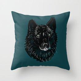 Totem Romeo the wolf Throw Pillow