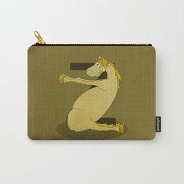 Monogram Z Pony Carry-All Pouch