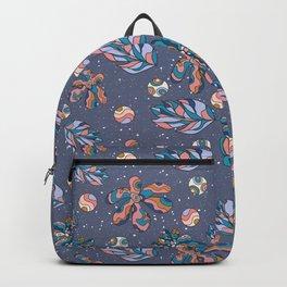 Crazy Flowers (blue) Backpack