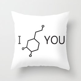 I Love You (Dopamine) Throw Pillow