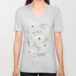 Koala and Eucalyptus Pattern Unisex V-Neck