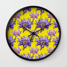 Water Lily Fire Wall Clock