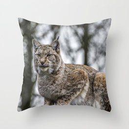 Lynx. Throw Pillow