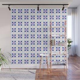 Symmetric patterns 142 Dark and light blue Wall Mural