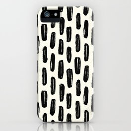 Ivory Vertical Dash iPhone Case