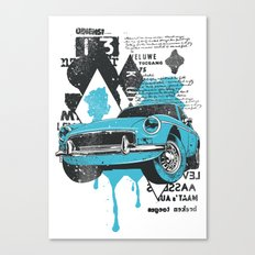 Blue Car Canvas Print