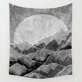 Mountains of silver and grey Wall Tapestry
