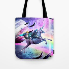 Bearded Dragon Frog Squirrel On Rainbow Unicorn Tote Bag