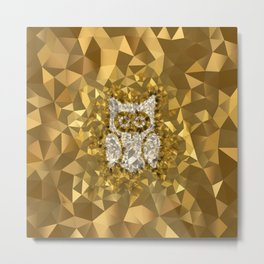 POLYNOID Owl / Gold Edition Metal Print