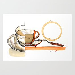 coffee composition #23 Art Print