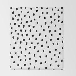 DOTTY BLACK Throw Blanket