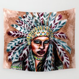 Lumbee Woman - Indian Native American Wall Tapestry