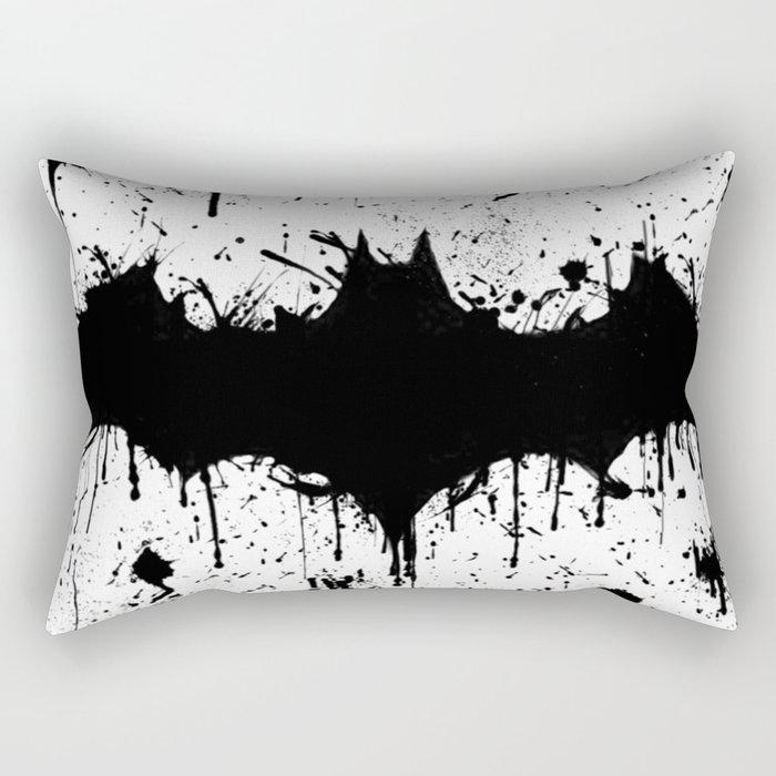 Bat Man Splatter Rectangular Pillow