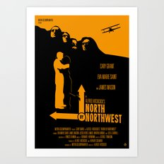 Alfred Hitchcock's North By Northwest Art Print