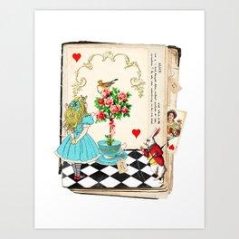 Alice's Book Alice in Wonderland Art Print