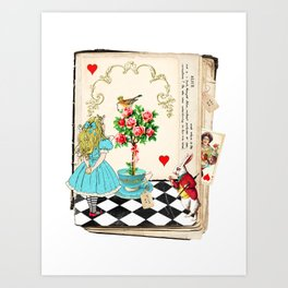 Alice's Book Alice in Wonderland Art Print