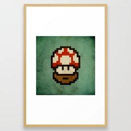 Bearded mushroom Framed Art Print