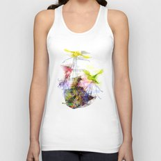 Flying Home (Glitch Remix) Unisex Tank Top