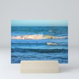 Beautiful waves on the Queensland coast of Australia Mini Art Print