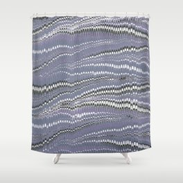 Electrified Ripples Lavender Shower Curtain
