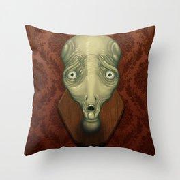 Shocked Alien Throw Pillow
