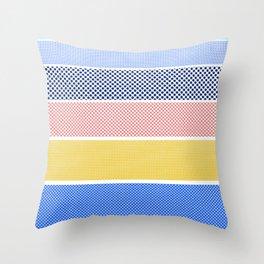 Halftone Stripes Throw Pillow