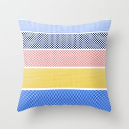 Halftone Stripes Throw Pillow