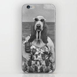 Basset Hound Beach Party iPhone Skin