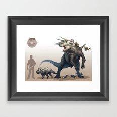 Pokemon-Aggron Framed Art Print