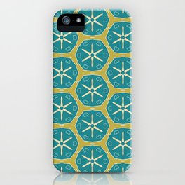 Lucca earth greens pattern iPhone Case