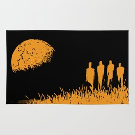 """New Moon"" by Justin Hopkins (Black Version) Rug"