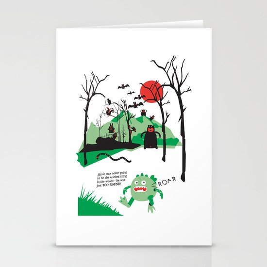 Arnie was just too round... Stationery Cards