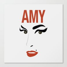 Amy Back to Black Canvas Print