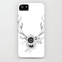 Antlers w/Flowers iPhone Case