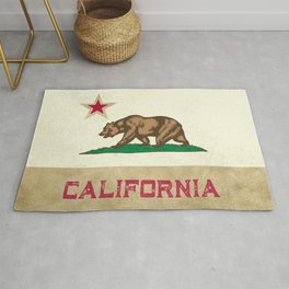 Vintage California Flag Rug