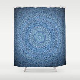 Blue Zen Mandala Shower Curtain