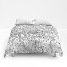 Hamburg Map Line Comforters